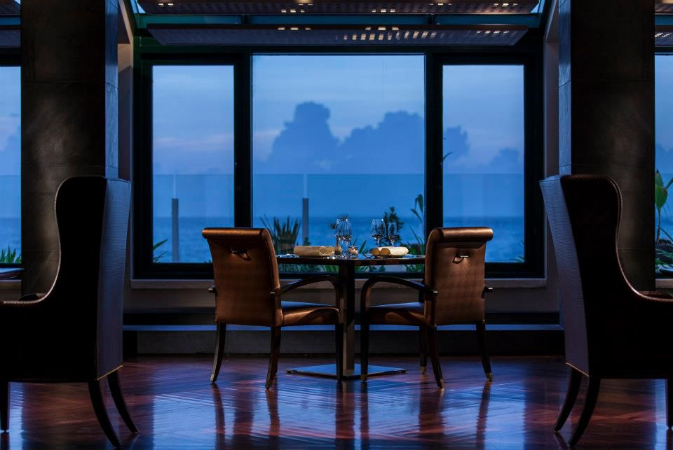 Dining table for two with a window view at 1919 Restaurant
