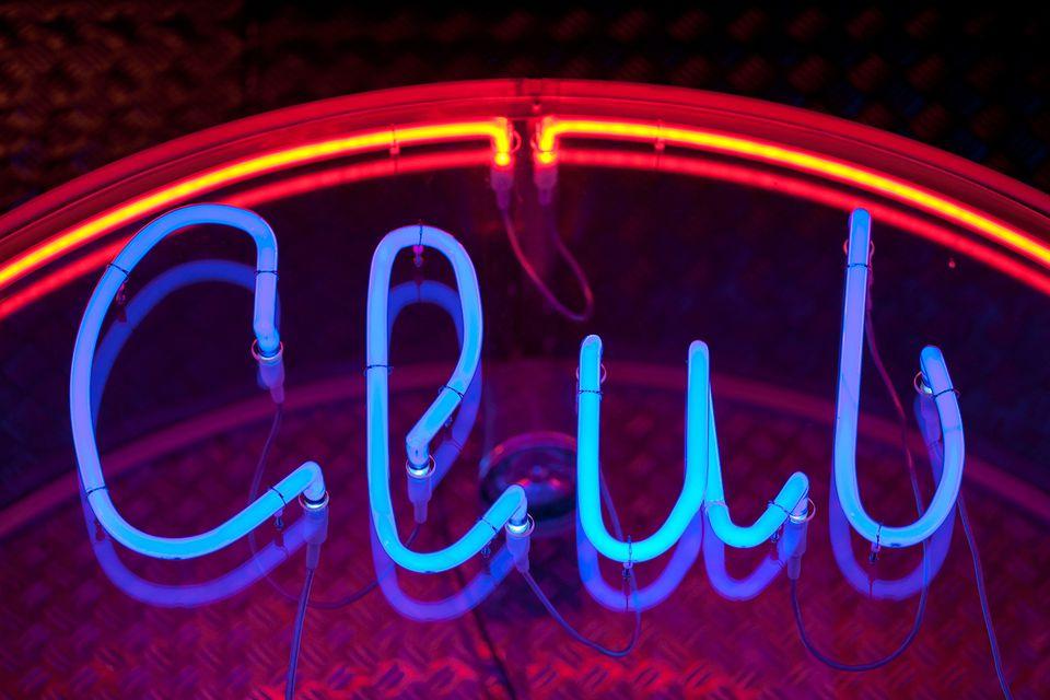 Club in neon lights.