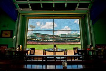 View of Fenway Park from the Bleacher Bar