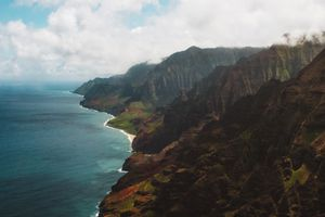 Napali Coast from a Helicopter tour with Blue Hawaiian helicopters
