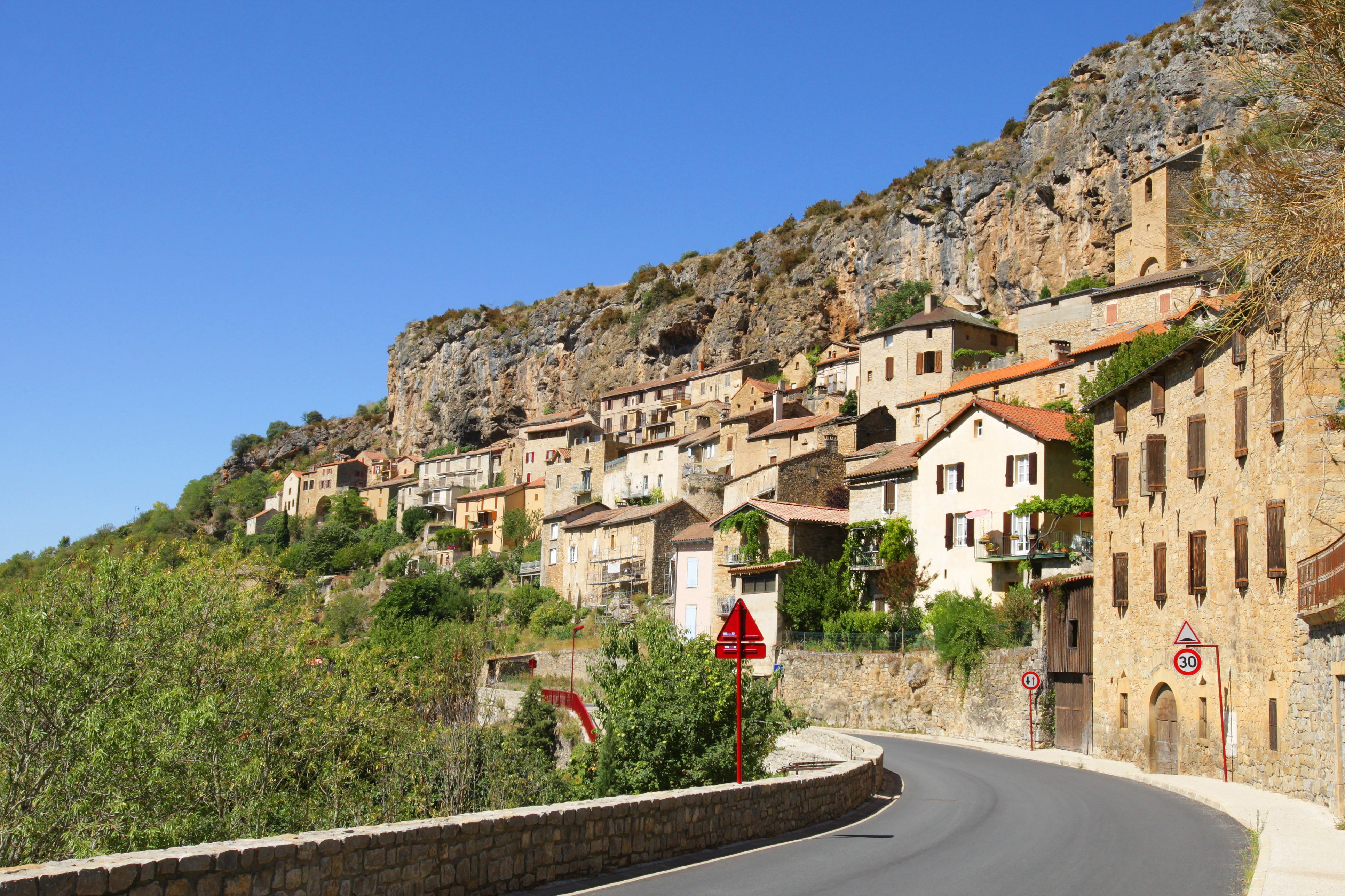 Semi Troglodytes Village in the South of France
