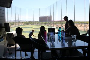 Family outing to Topgolf in Scottsdale.