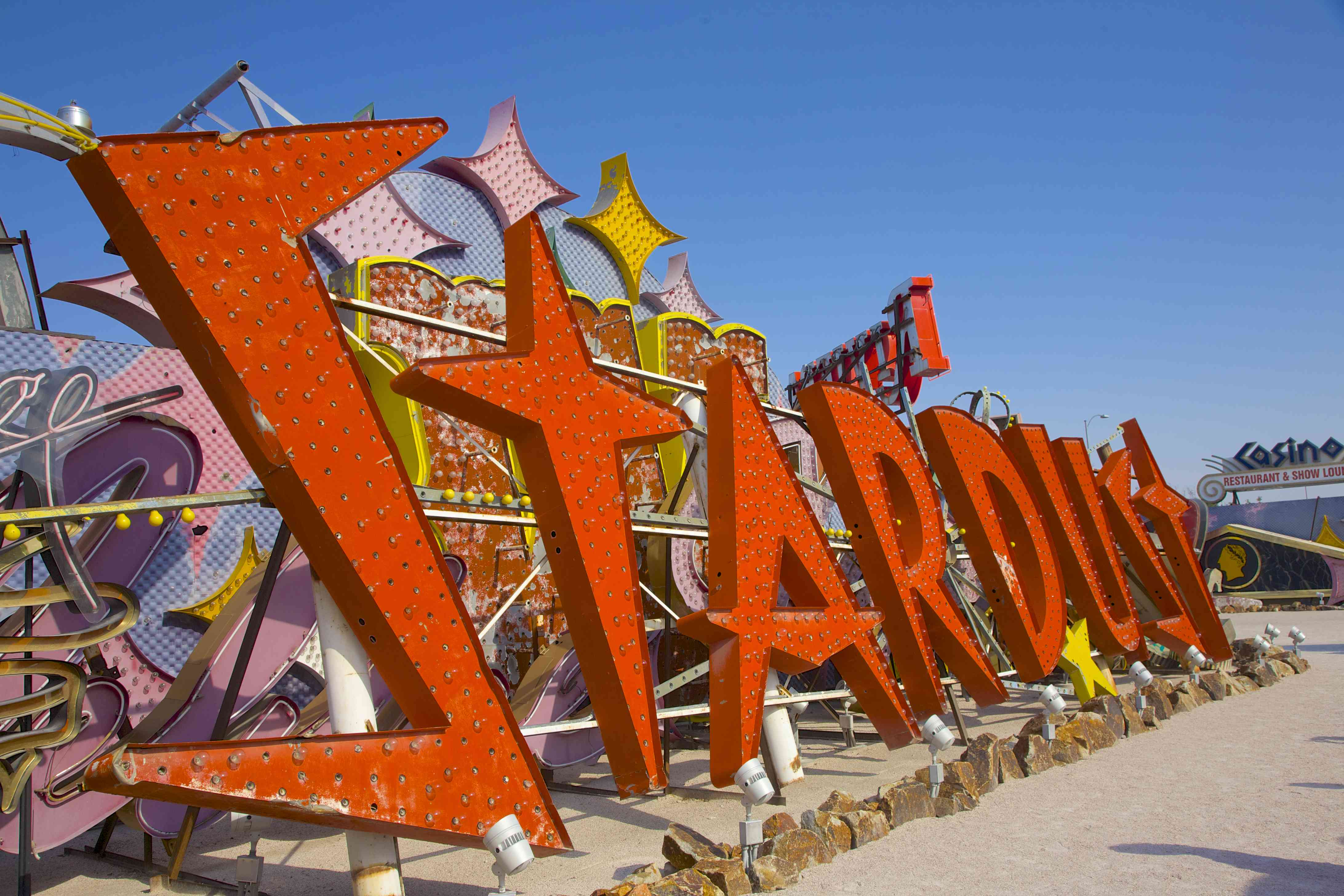 Sign from the Stardust Hotel, now at Neon Museum, Las Vegas