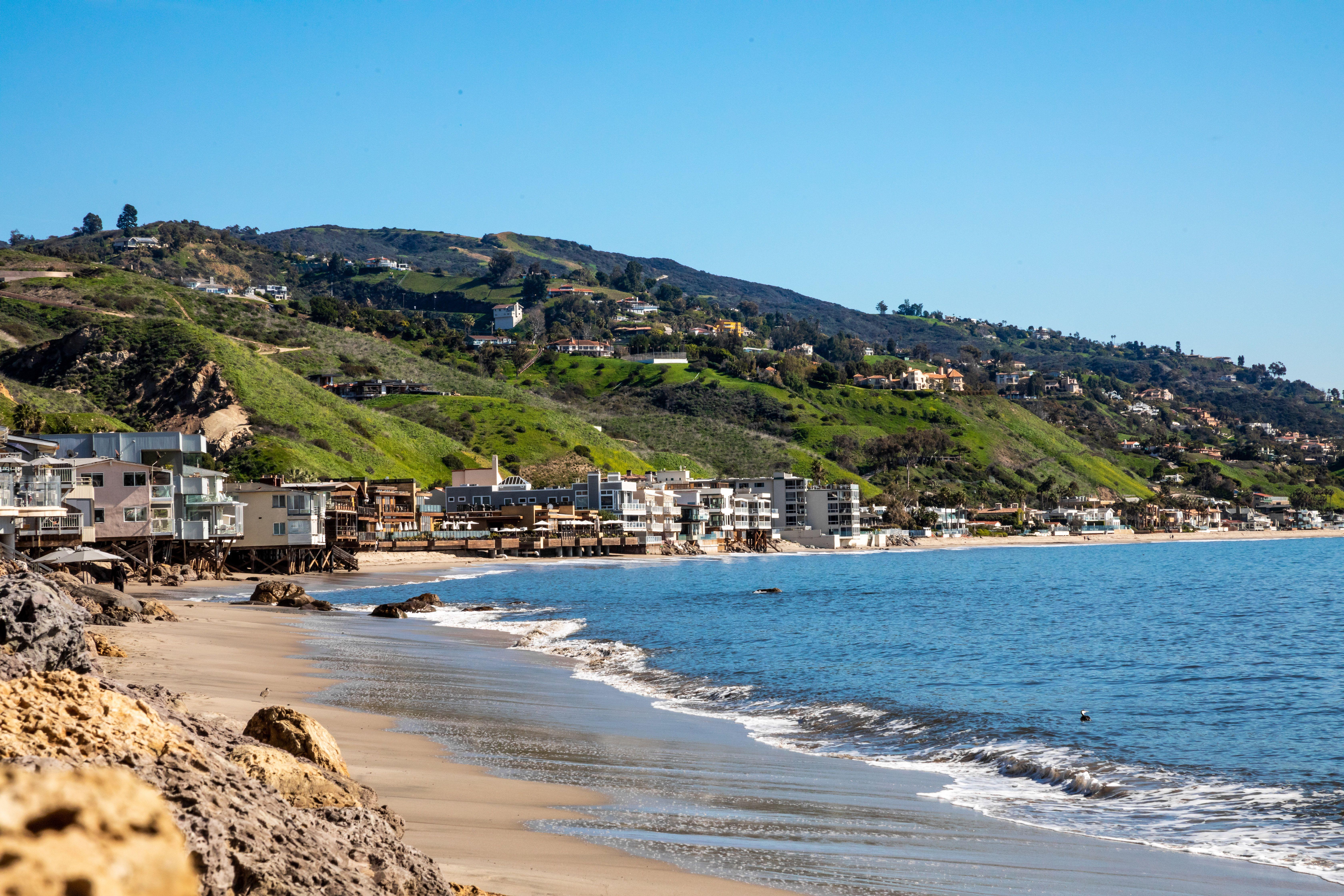 The beach in Malibu