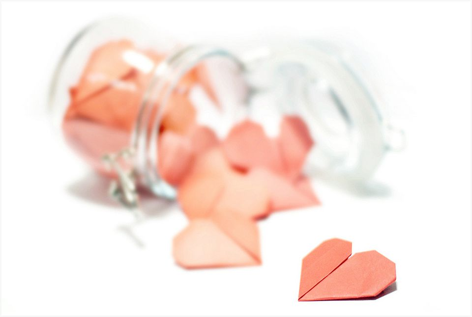 Jar of hearts for Valentine's Day