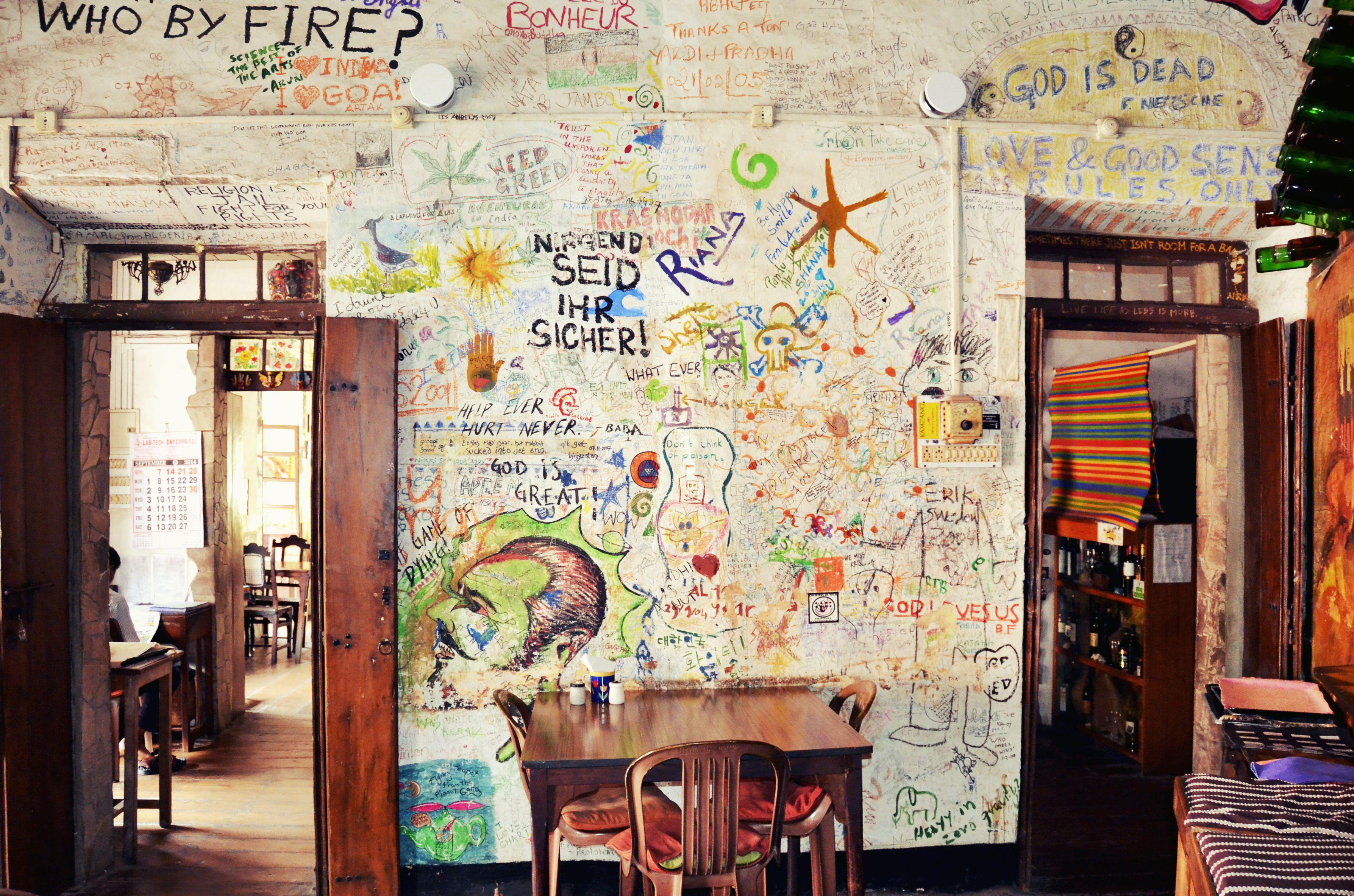 Inside Hotel Venite restaurant.