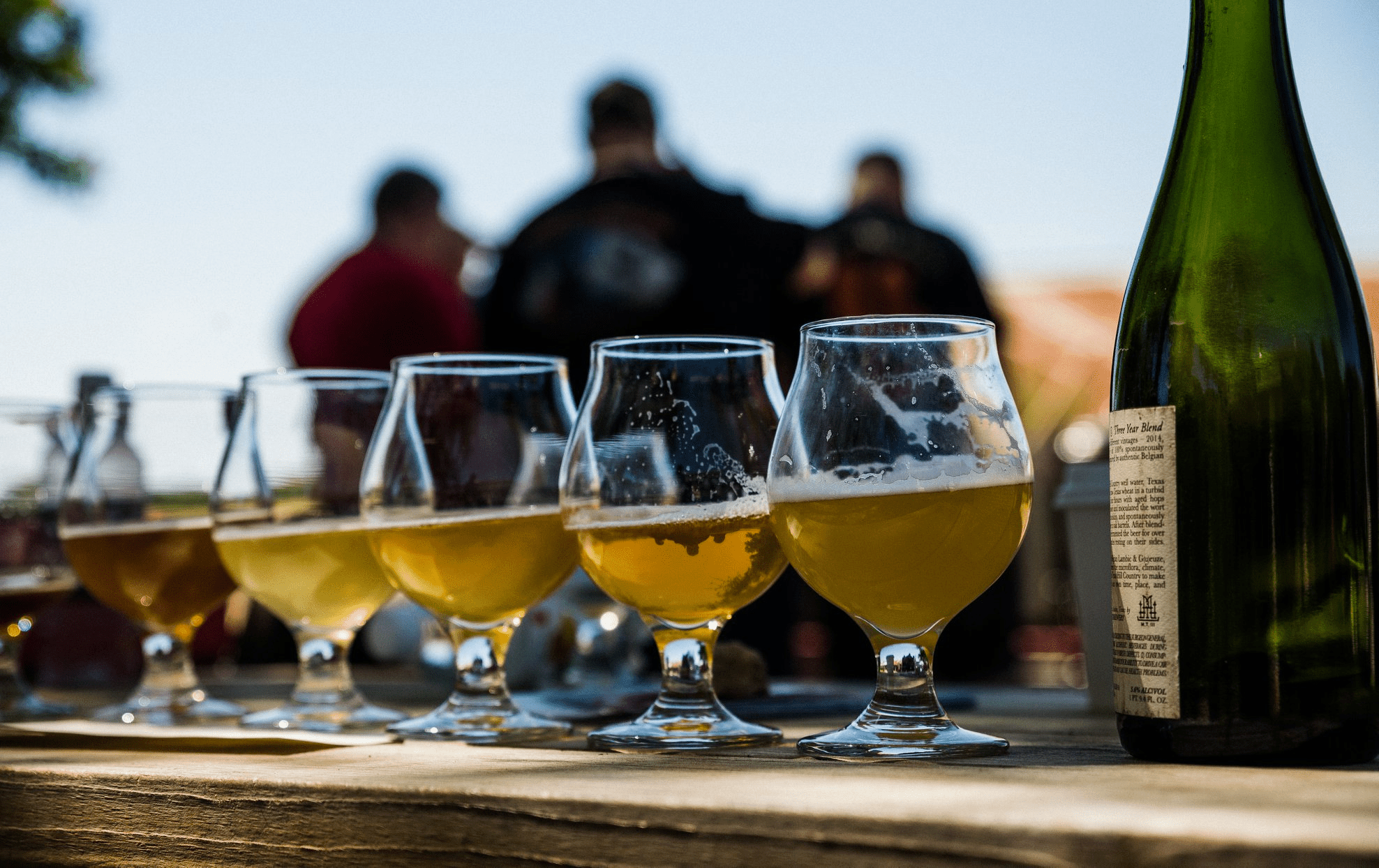 taster glasses at Jester King Brewery