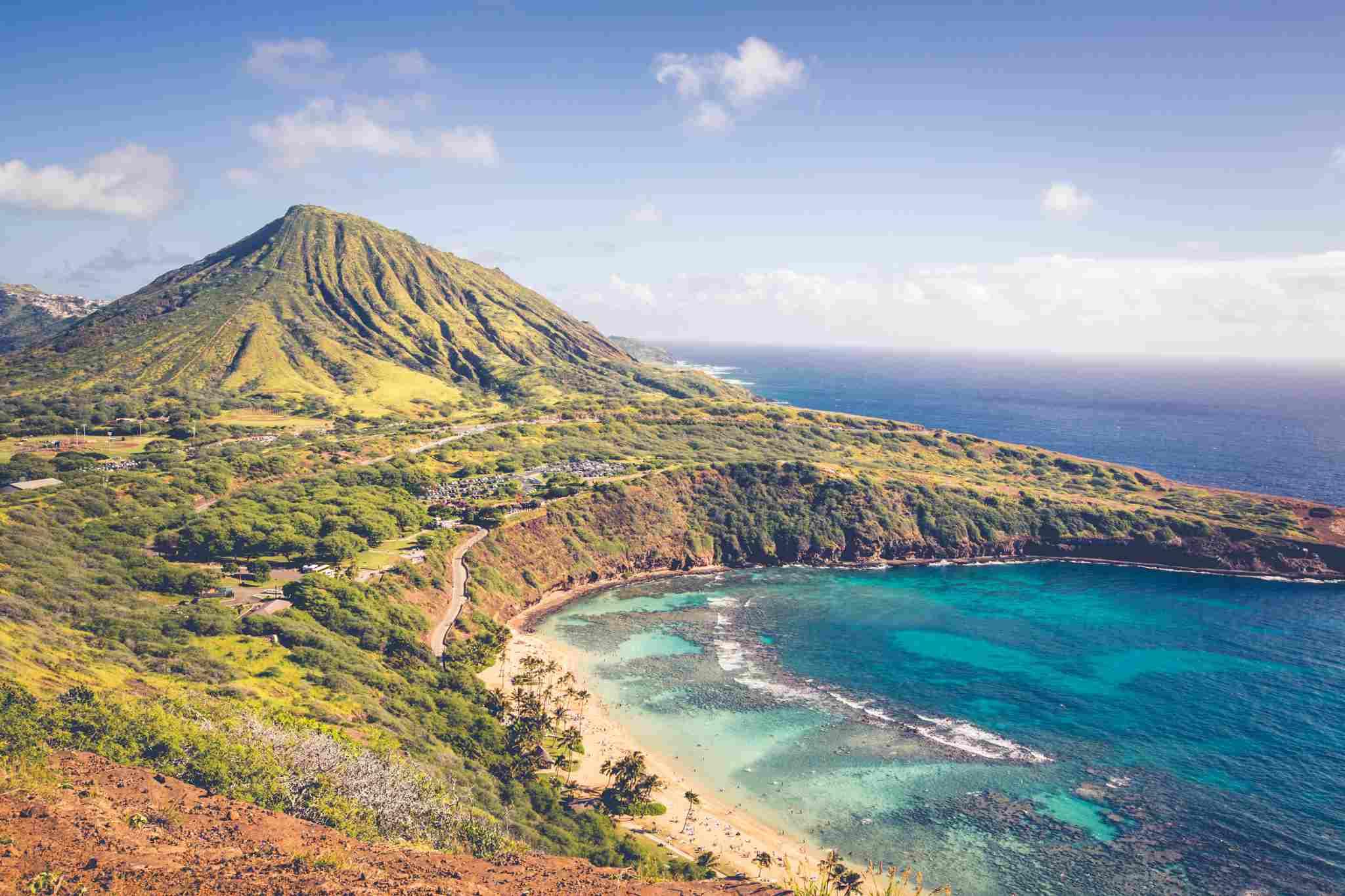Scenic view of an Oahu beach