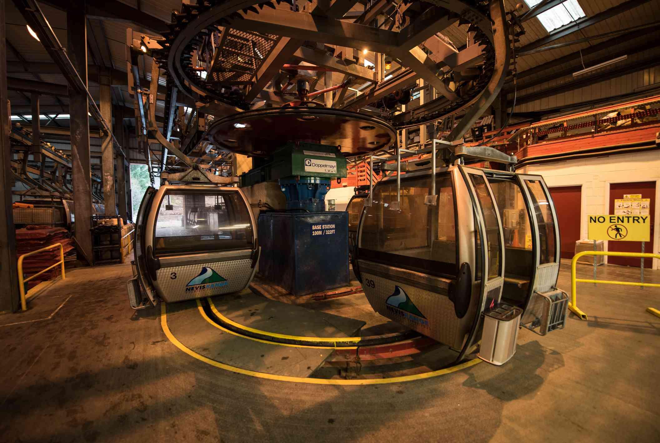 Base station for the Nevis Range Mountain Gondola