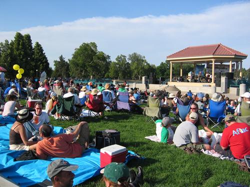 City Park Jazz crowd