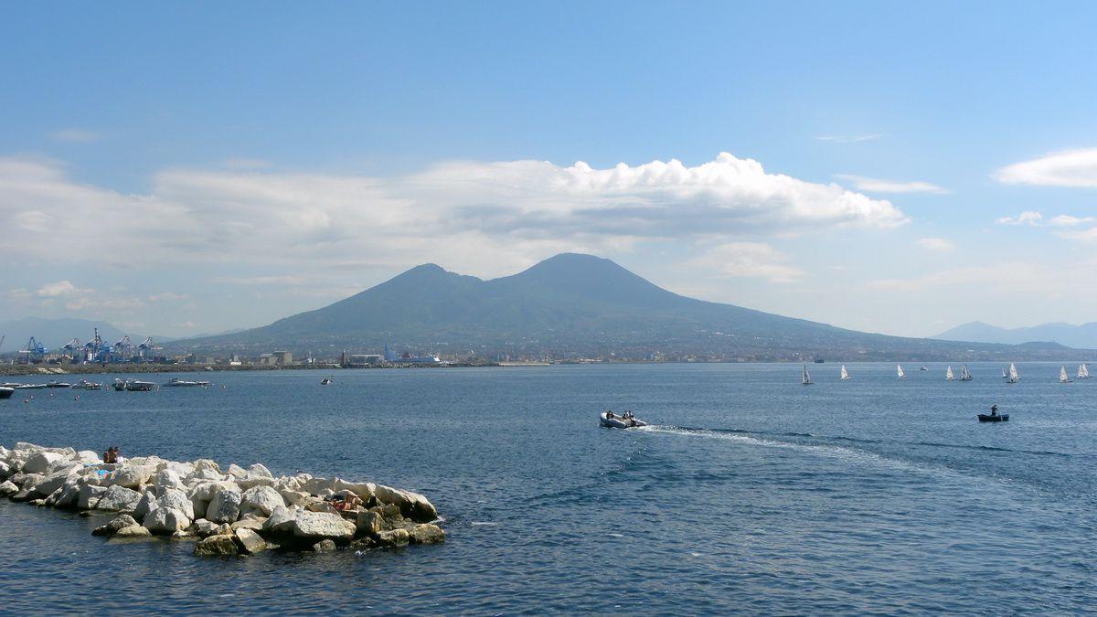 Mount Vesuvius near Naples, Italy
