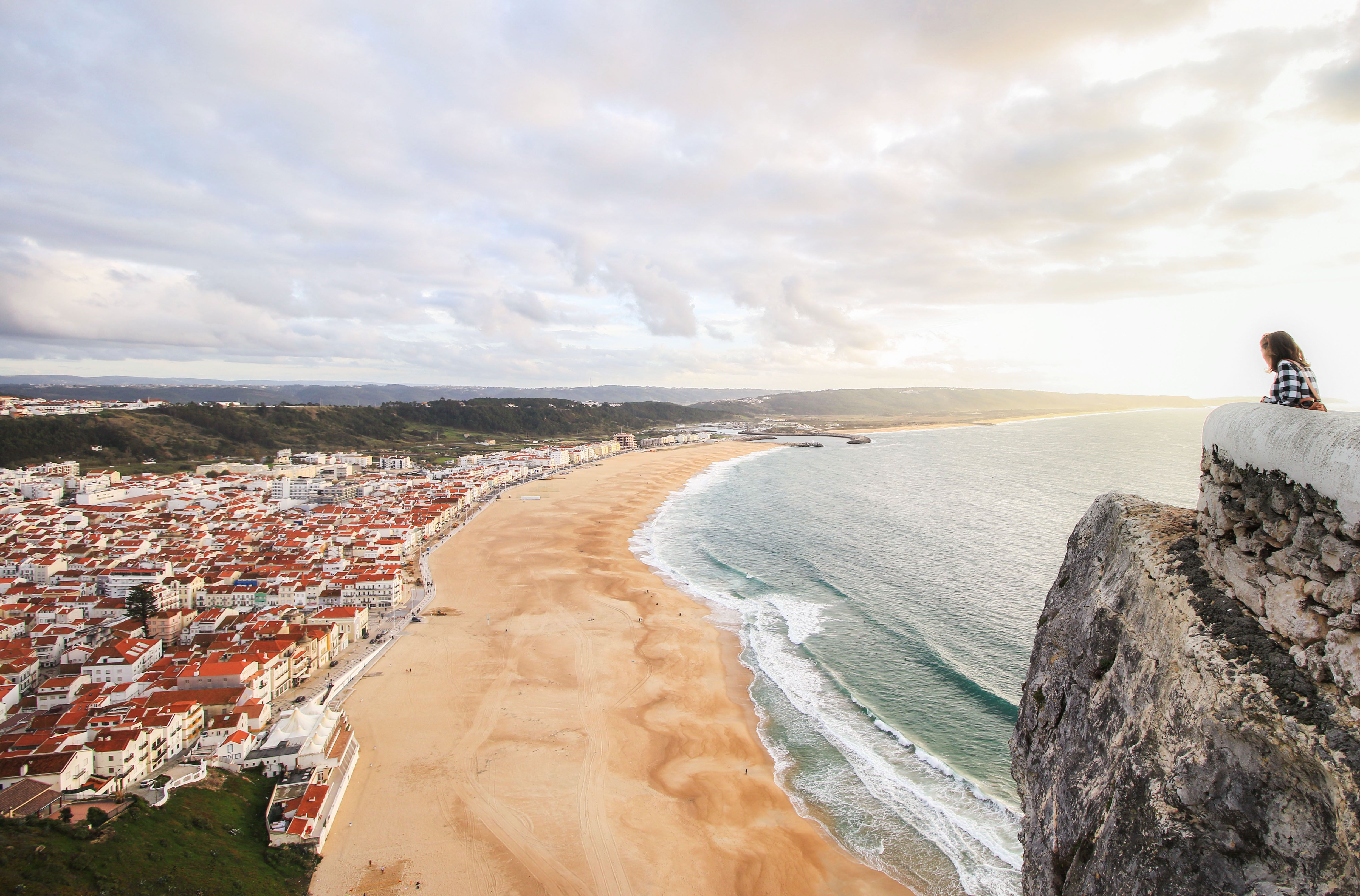 View from the top of the Funicular in Nazaré