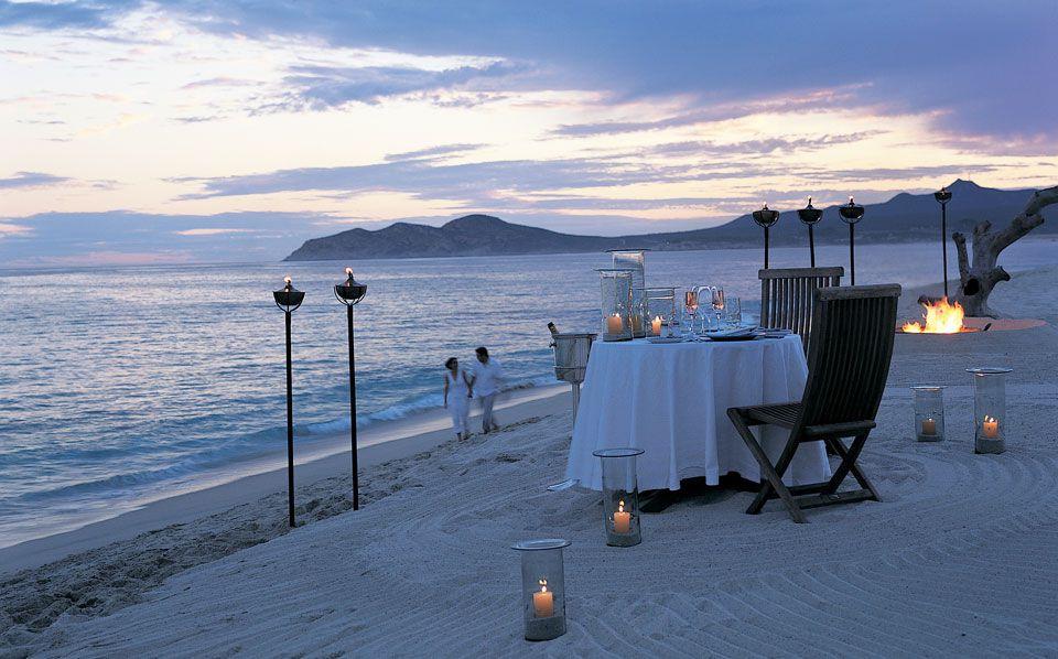 cena en la playa las ventanas