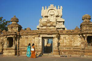 Kailasanathar temple dating from 8th century, Kanchipuram, Tamil Nadu