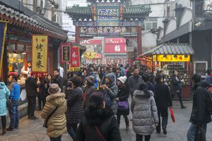 wangfujing Snack Street in Beijing