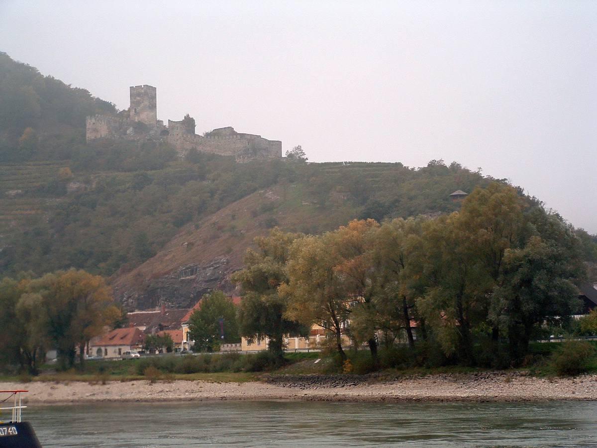 Hinterhaus Castle and Spitz, Austria on the Danube River