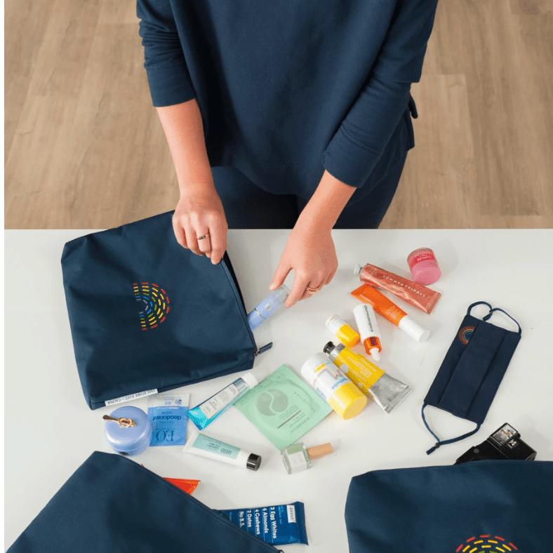 The Home Edit x Calpak travel pouch set