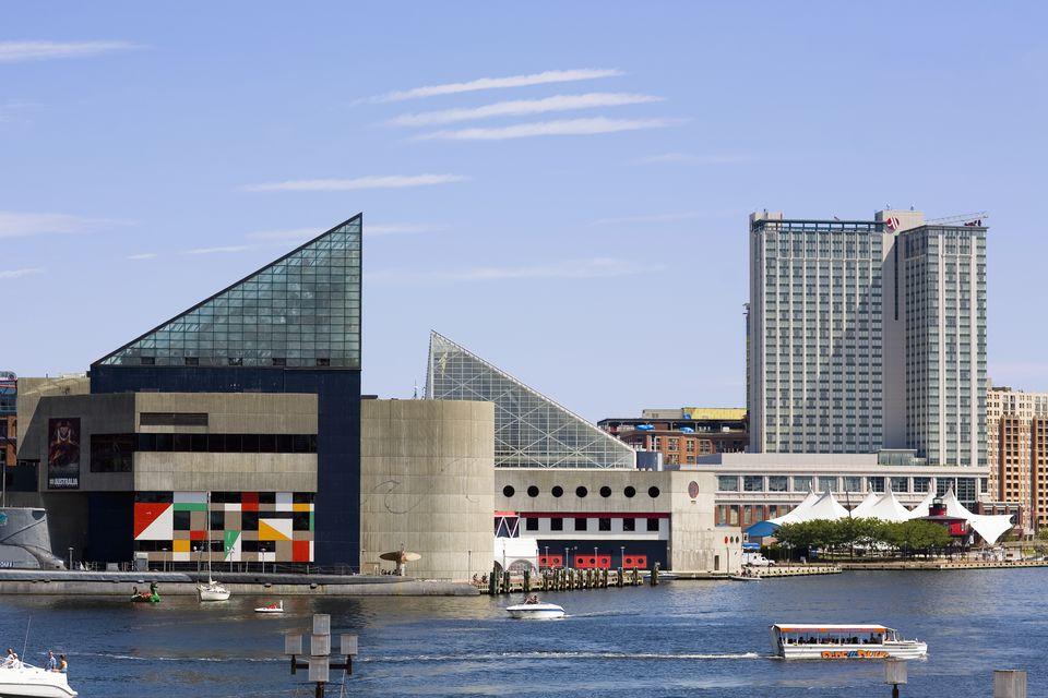 Buildings At The Waterfront National Aquarium Inner Harbor Baltimore Maryland Usa