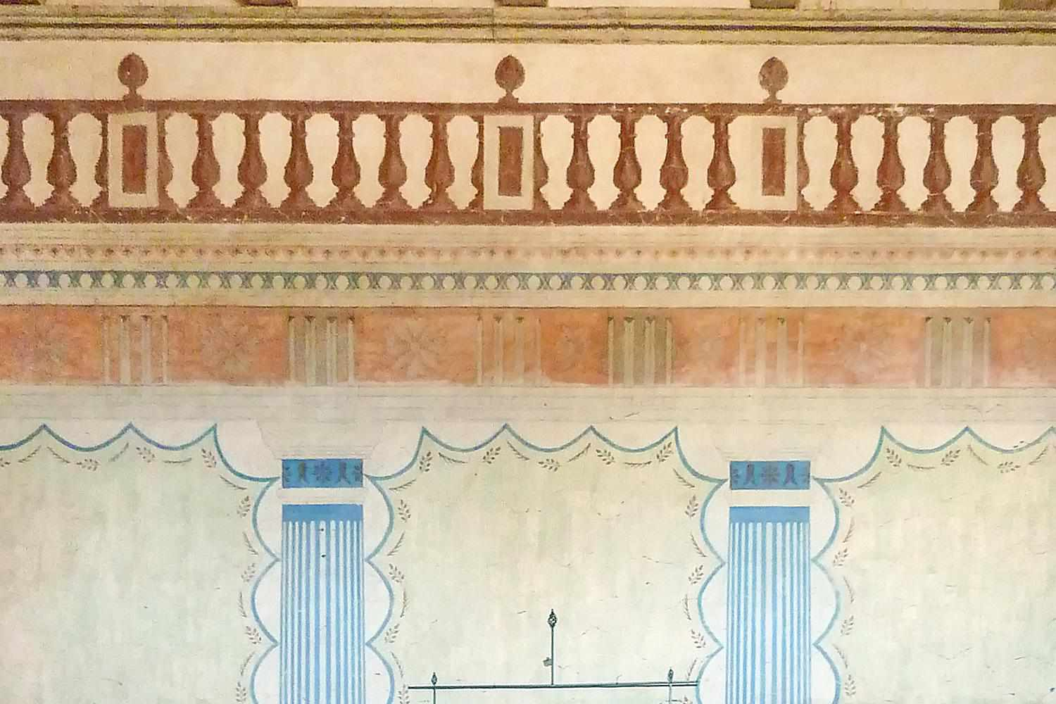 Frescoes at San Miguel Mission