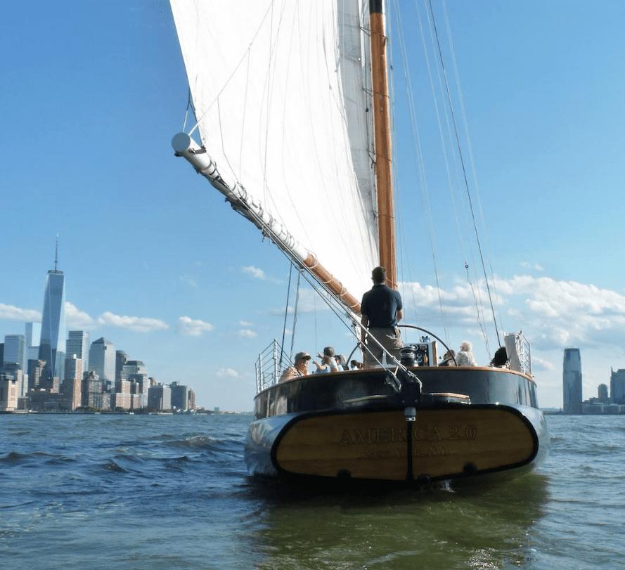 Schooner saiilng with Classic Harbor Line