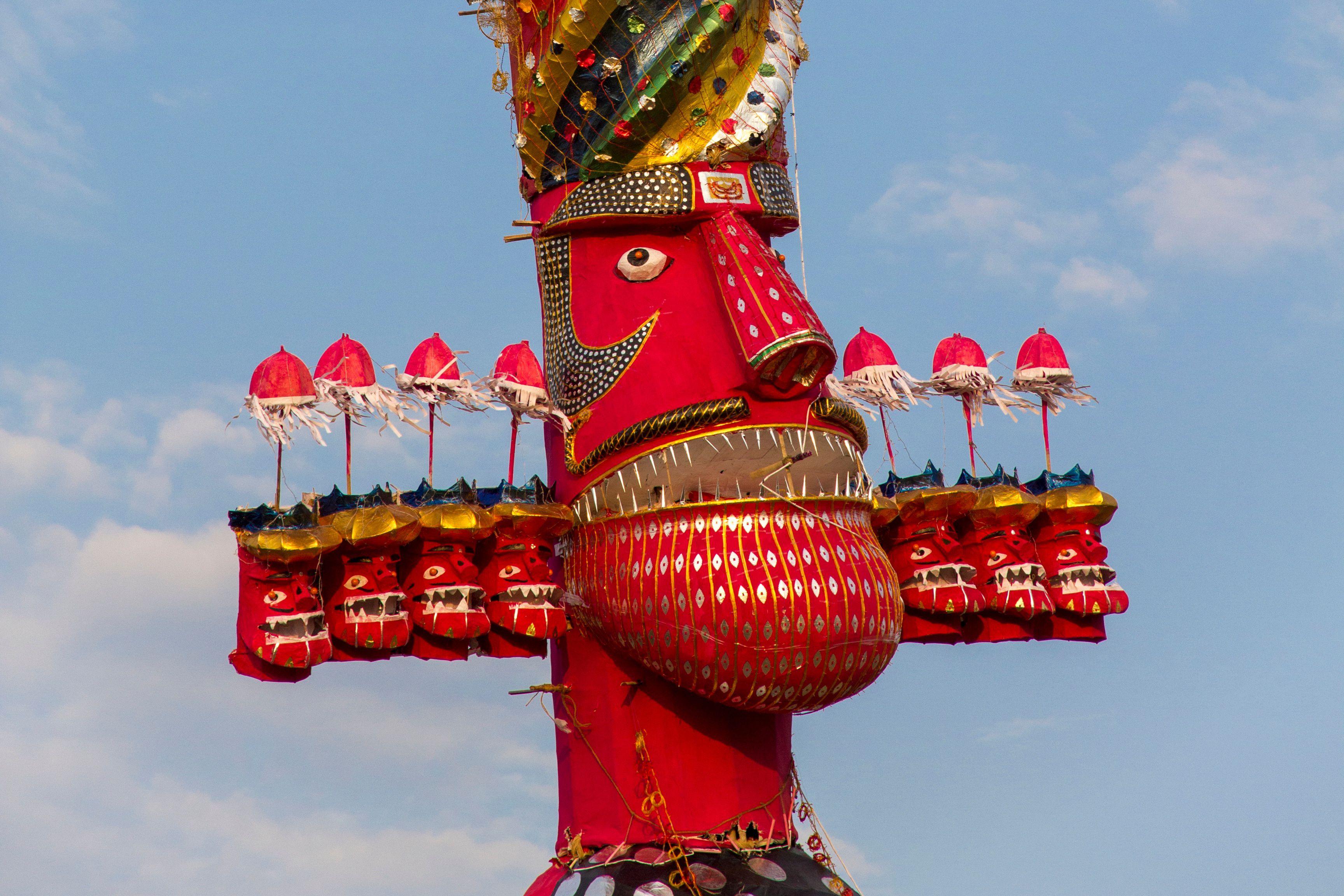 Ravan effigy.