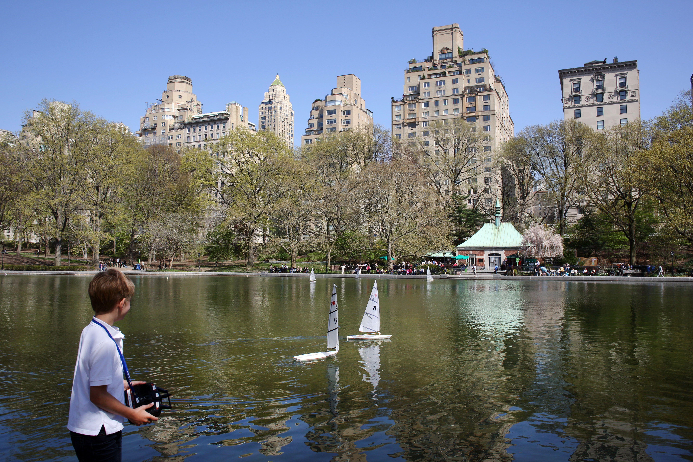 Spring time in Central Park, Manhattan, New York, USA.