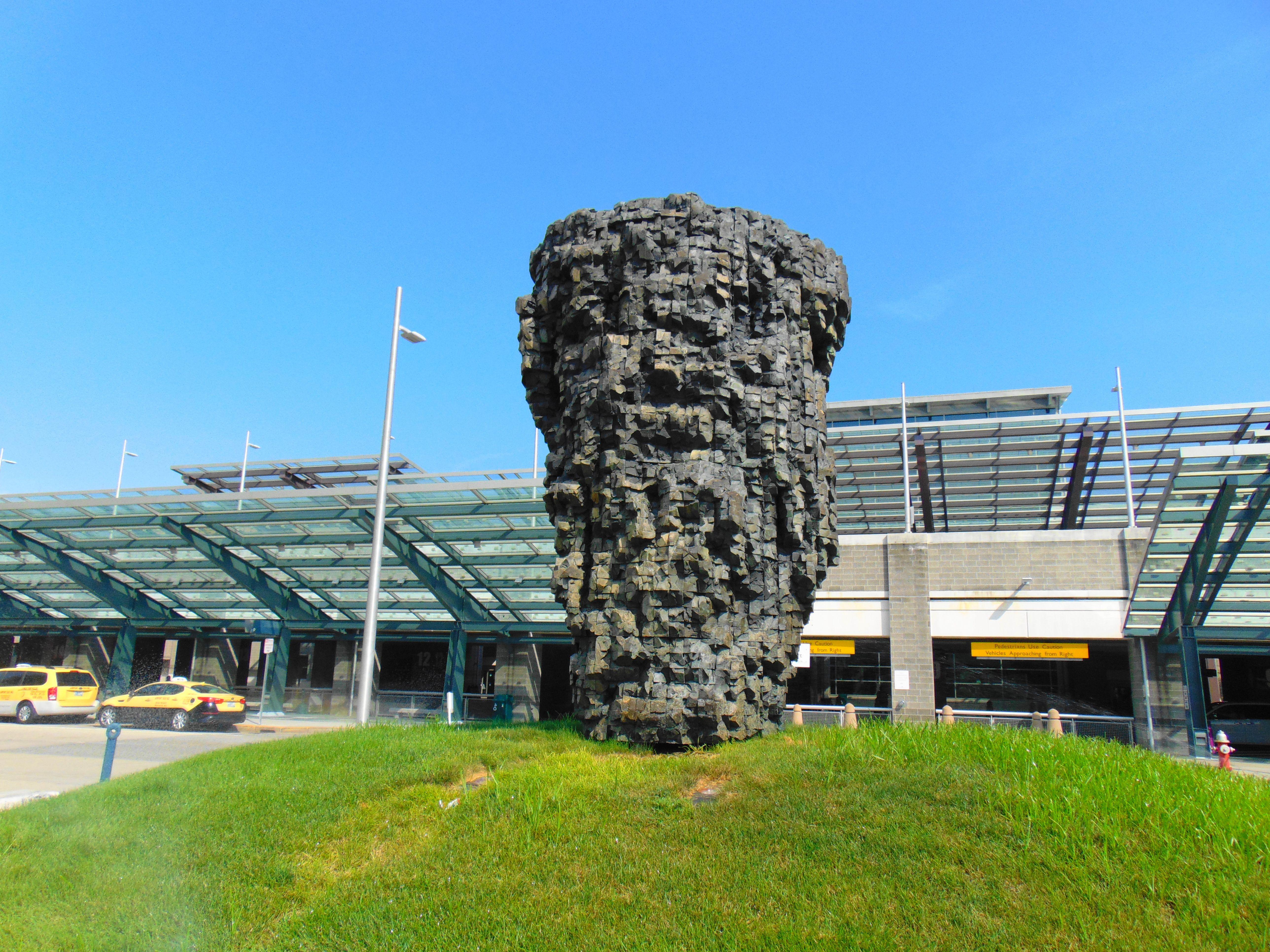 Sculpture outside T.F. Green Airport in Warwick, Rhode Island