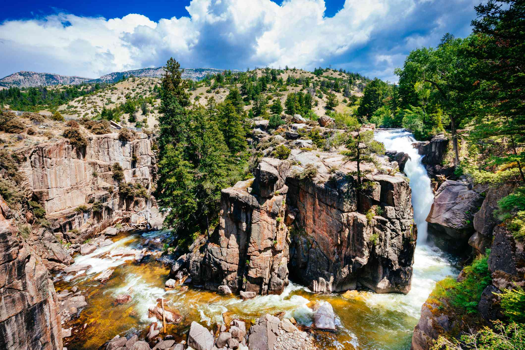 Shell Falls Bighorn National Forest Wyoming