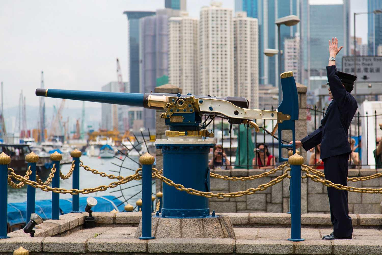 Daily firing of the Noonday Gun in Hong Kong