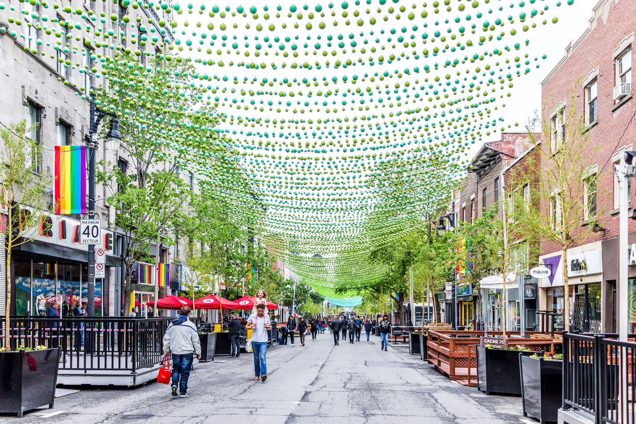 Montreal s Gay Village is one of the largest gay