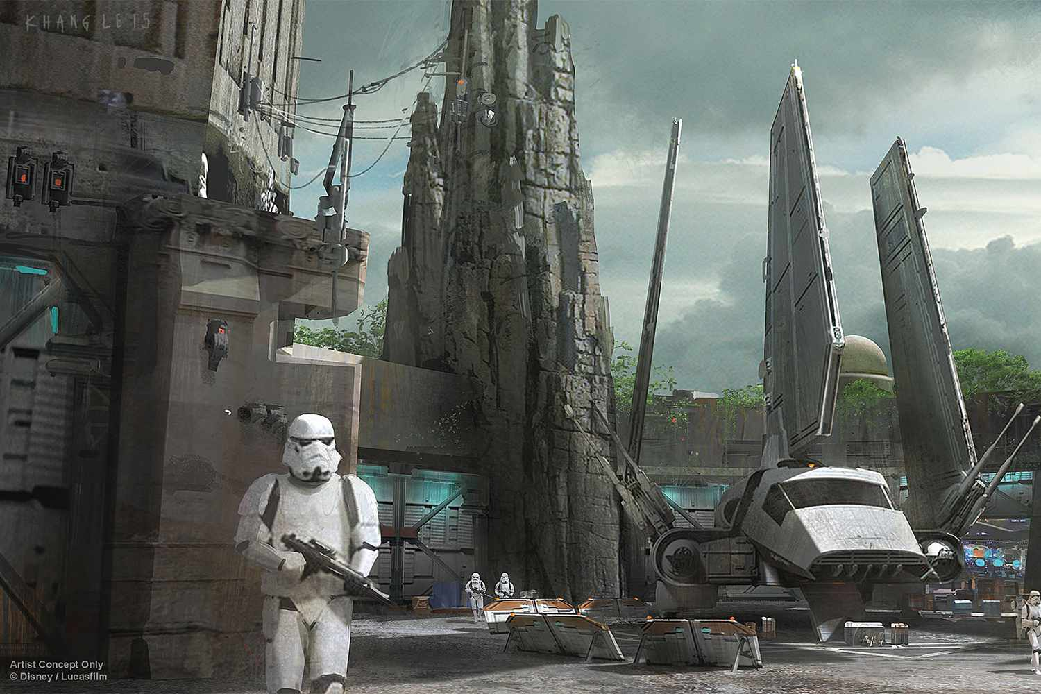 Artist's Concept for Tierra de Star Wars