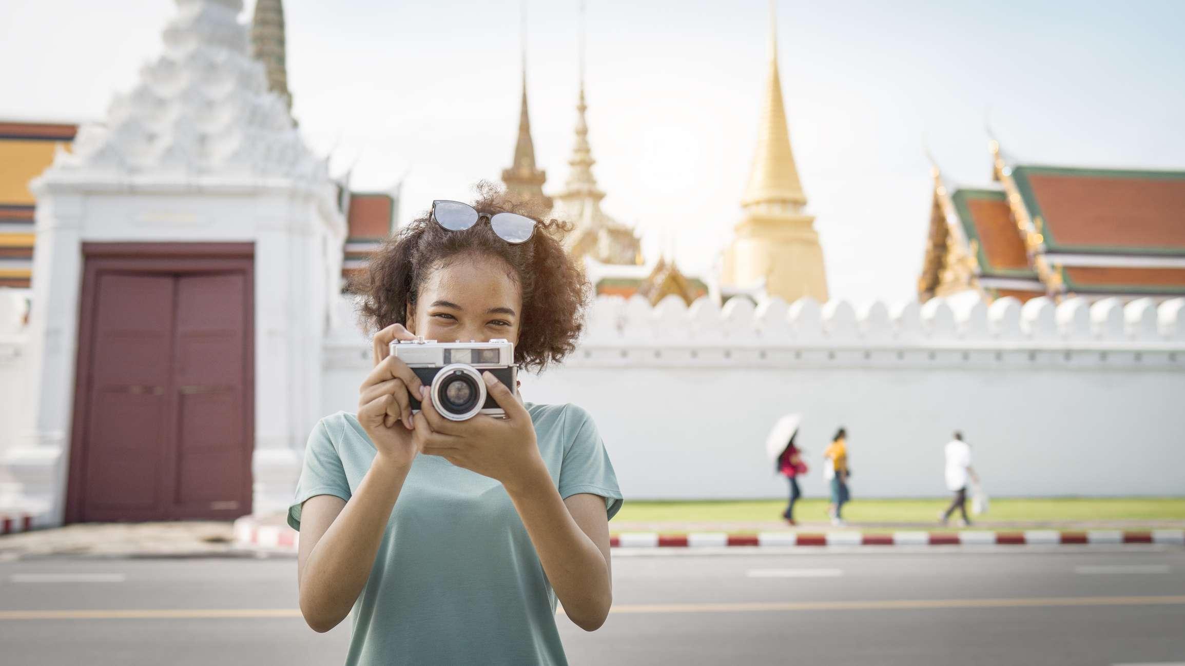 African-American tourist in Bangkok, Thailand
