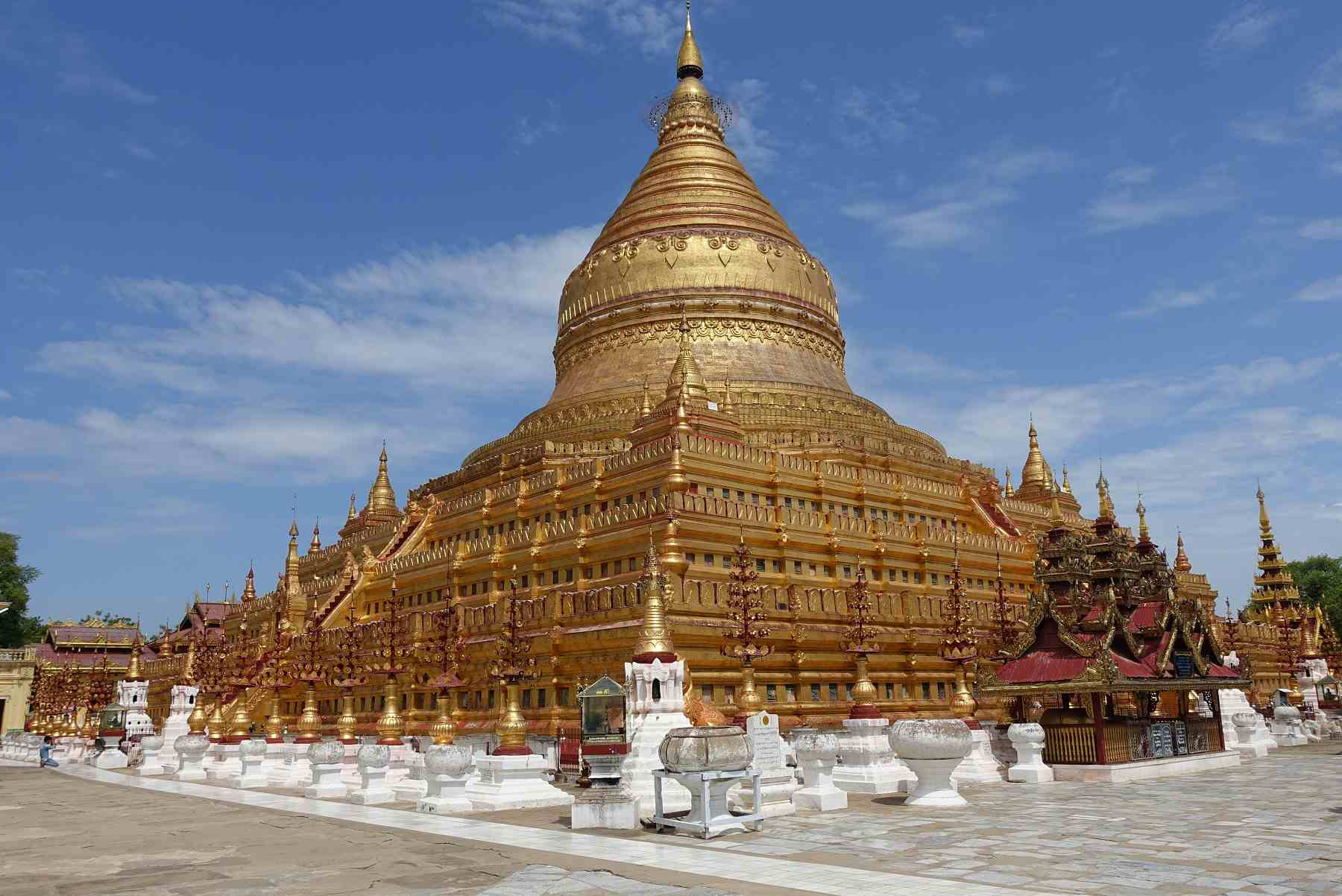 Shwezigon Temple in Bagan, Myanmar