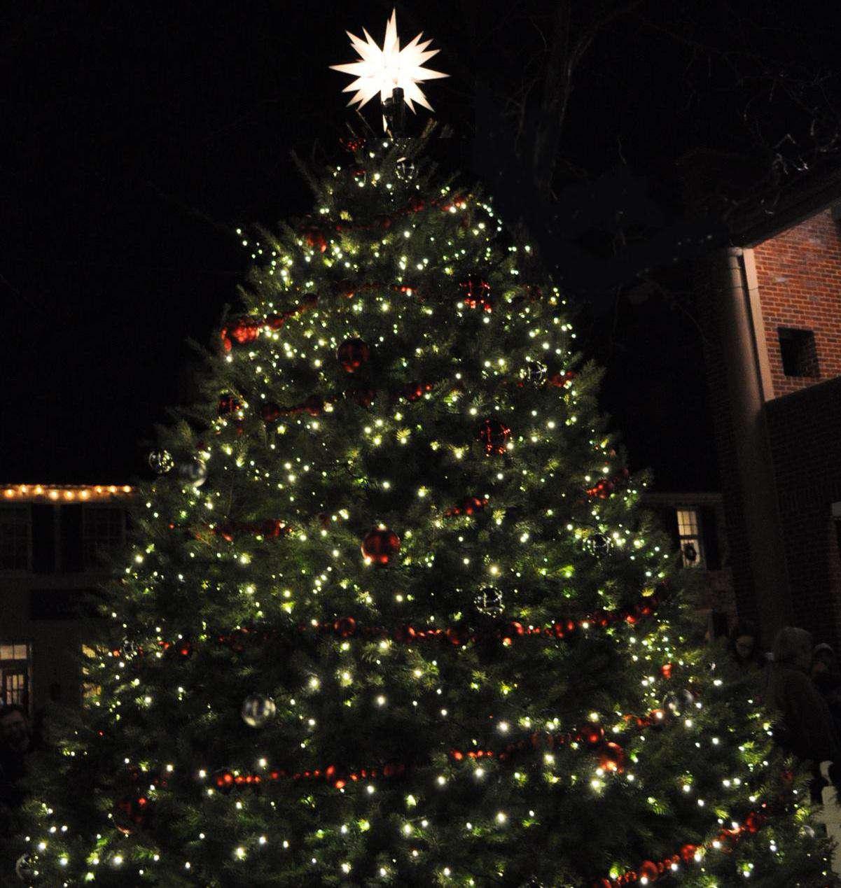 Tree lighting ceremony in the town of leesburg, VA