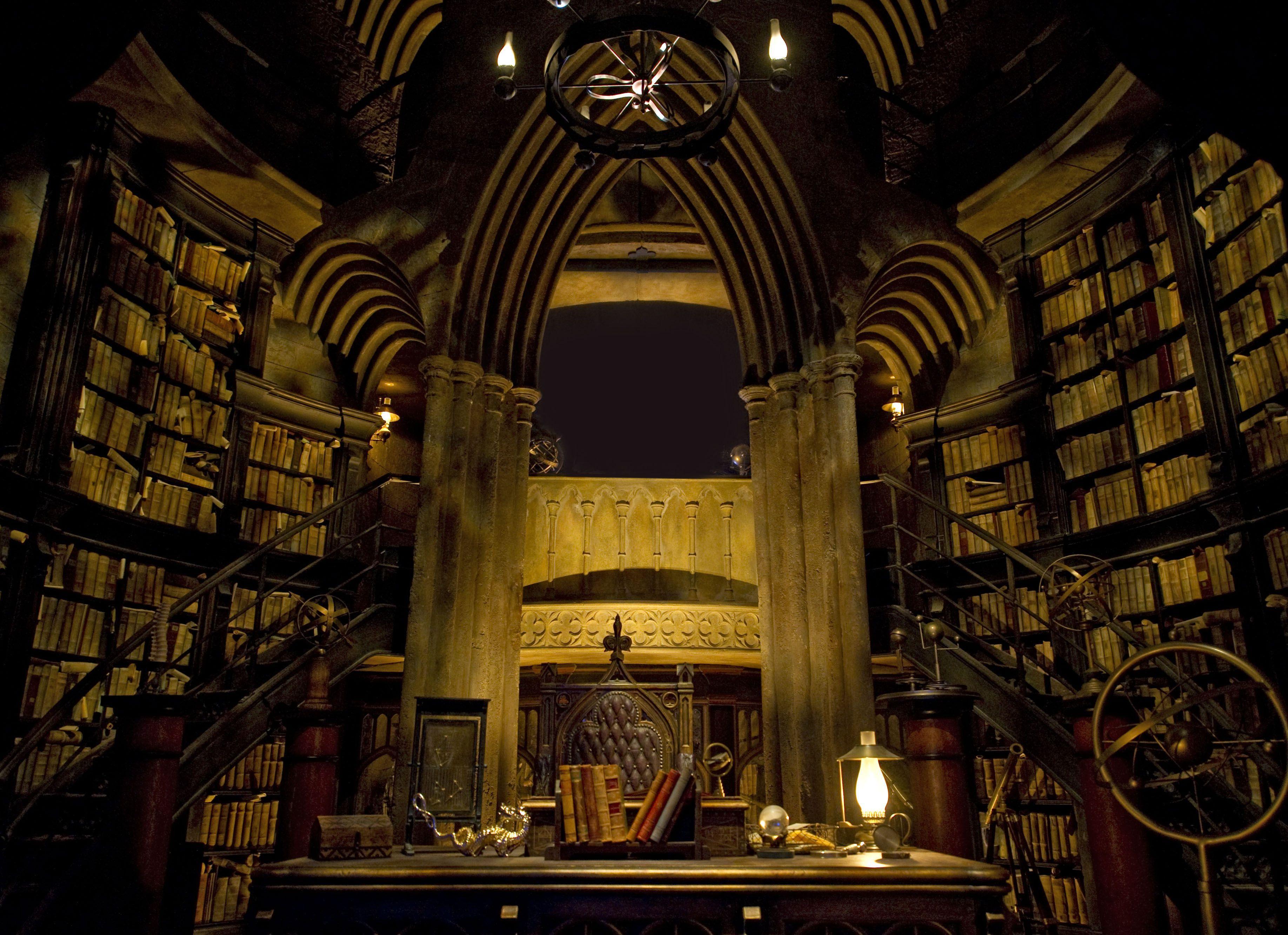La oficina de Dumbledore en el paseo de Harry Potter
