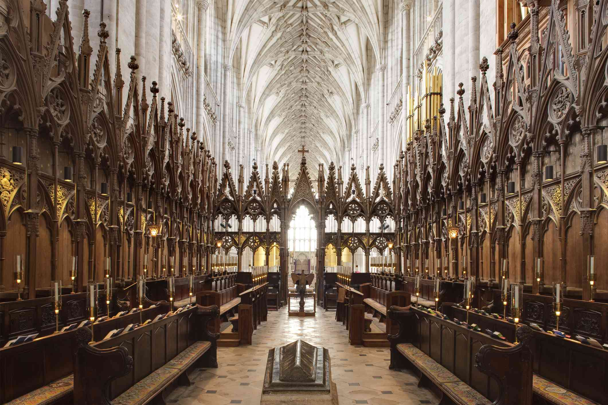 Interior of Winchester Cathedral, Hampshire