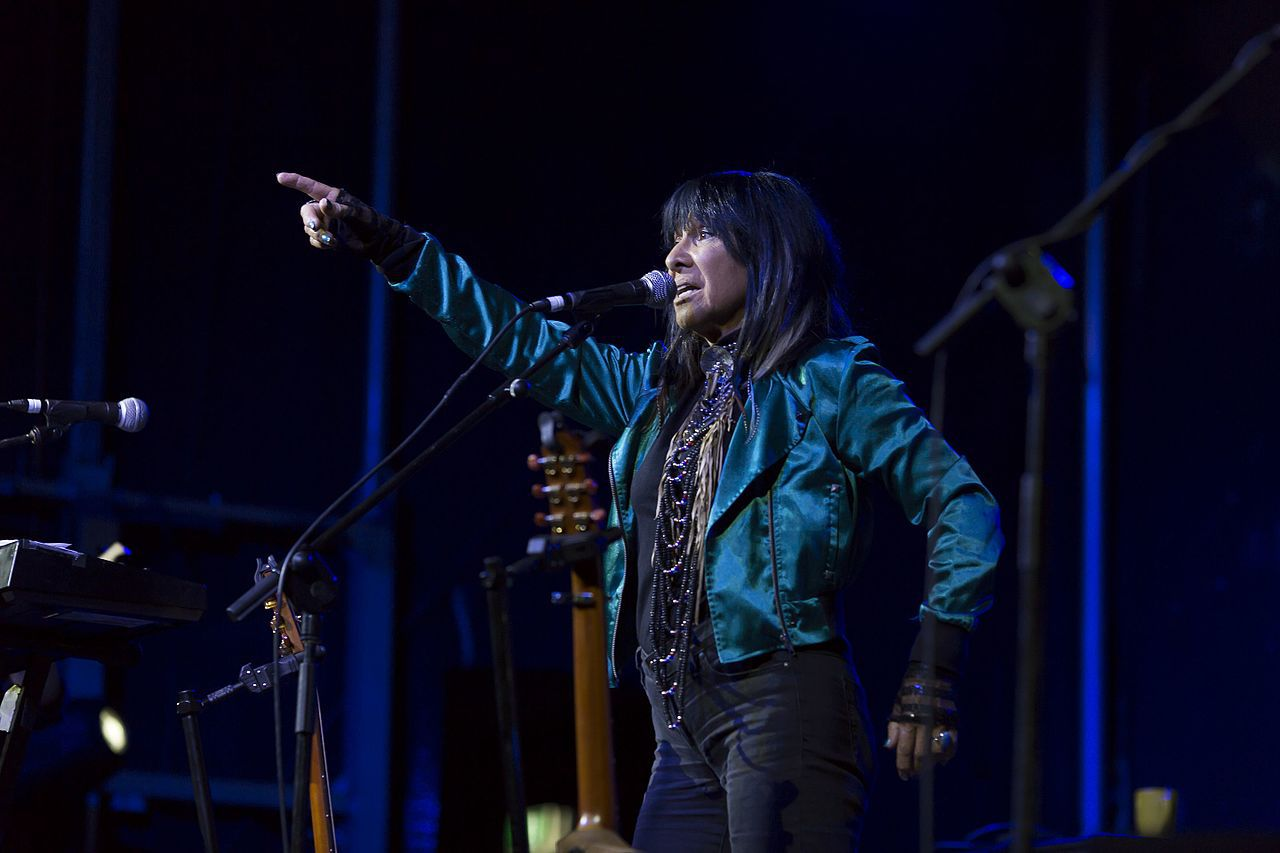 Buffy Sainte-Marie at the Blue Mountains Music Festival in Katoomba.