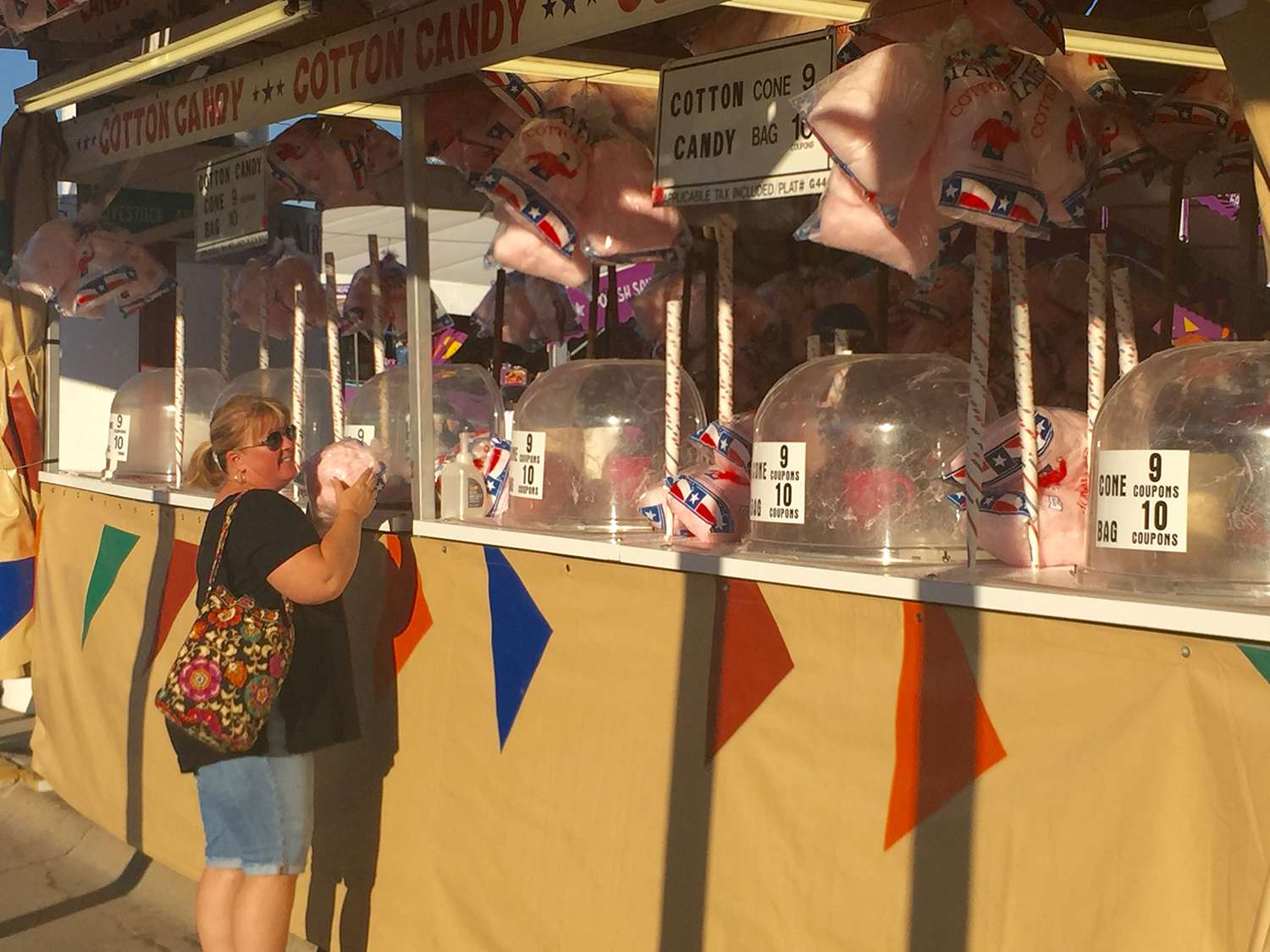 Cotton candy at the State Fair of Texas