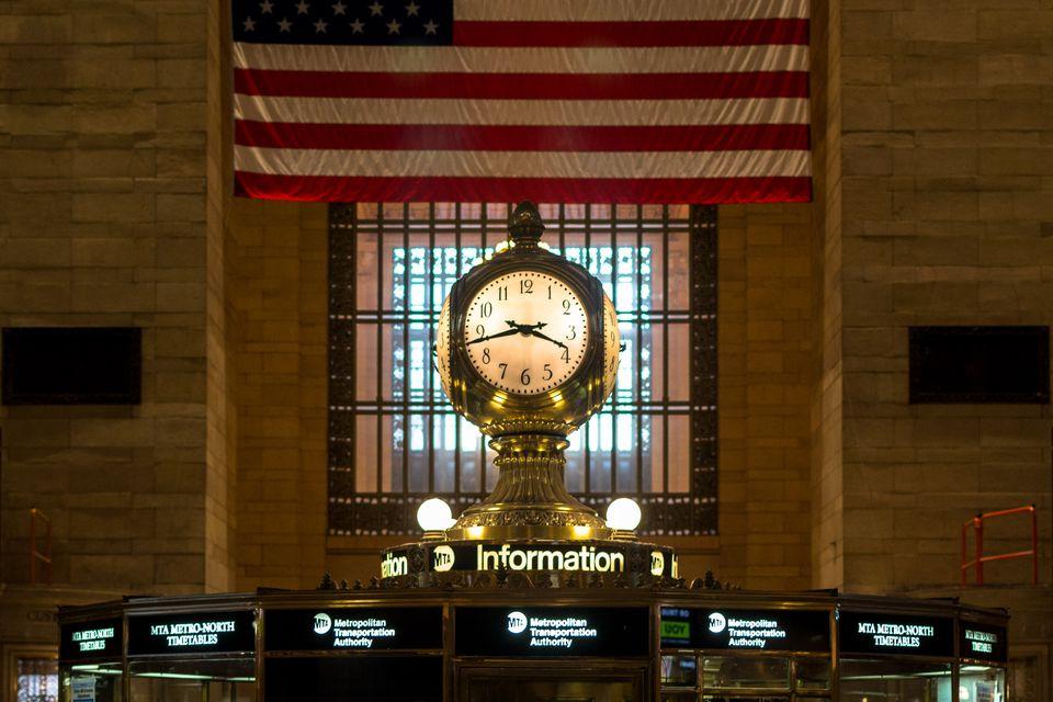 Clock in Grand Central Terminal