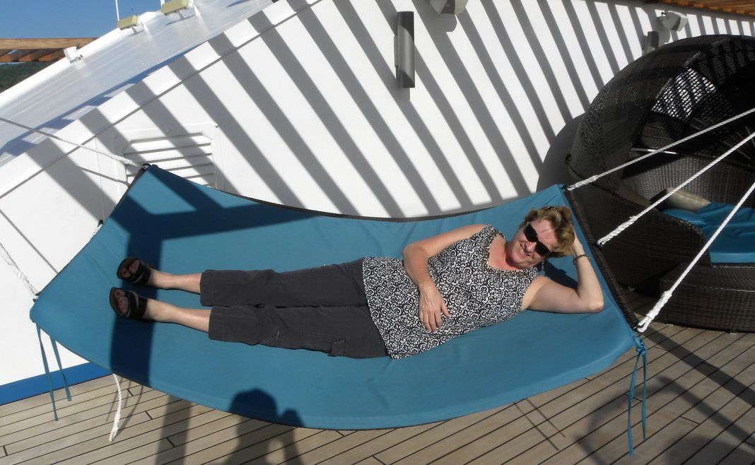 Carnival Liberty hammock in the Serenity all-adult area