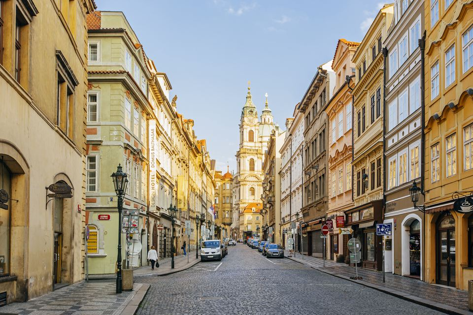 Mostecka street in the moring, Mala Strana, Prague, Czech Republic