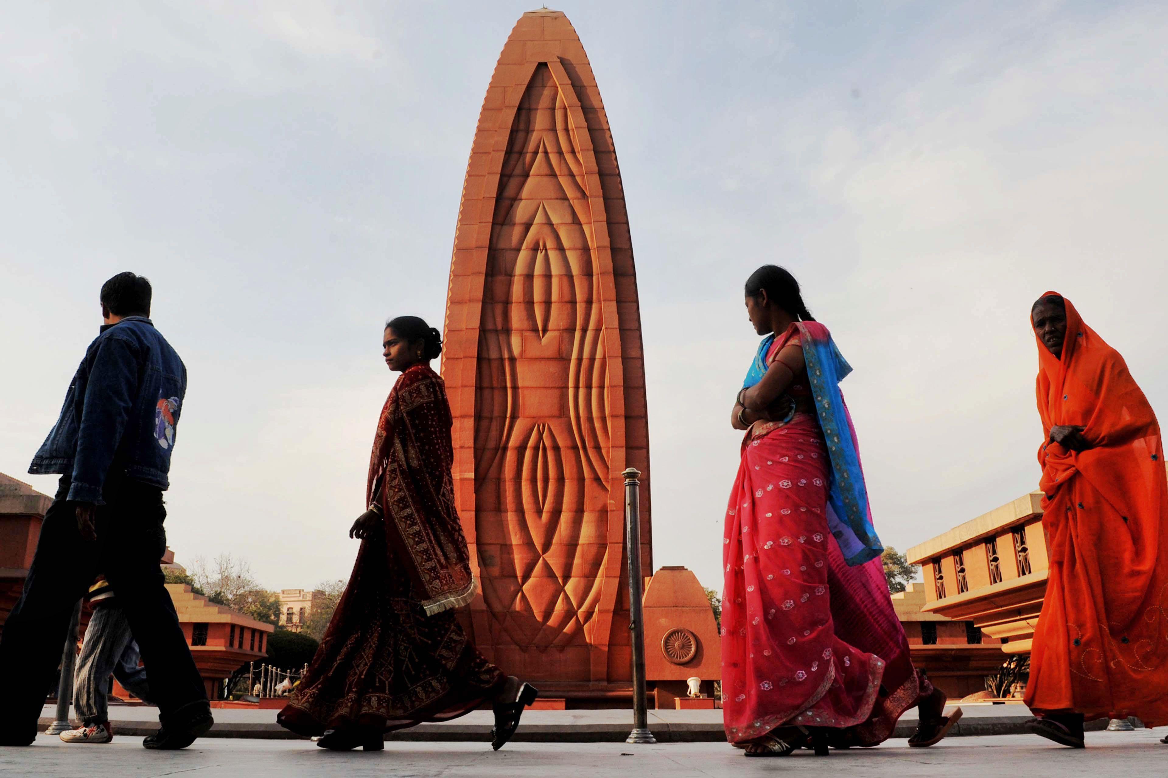 Flame of Liberty memorial at Jallianwala Bagh.