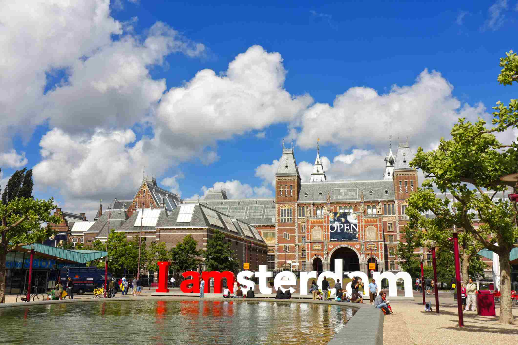 Famous Squares (Pleinen) in Amsterdam, The Netherlands