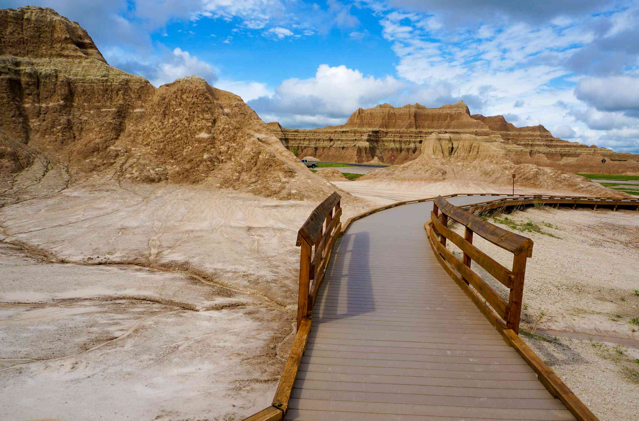 The starter of a trail in Badlands National Park