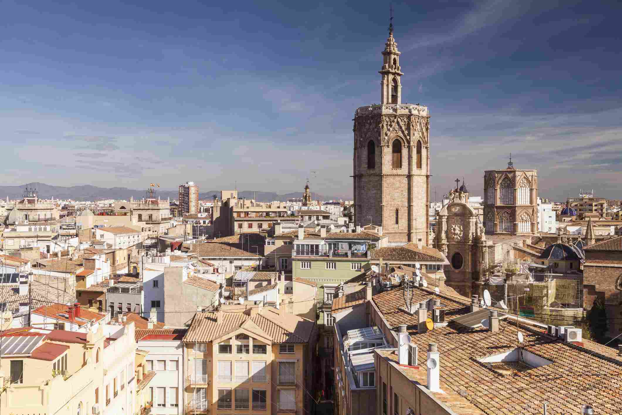 Los tejados de la histórica Valencia
