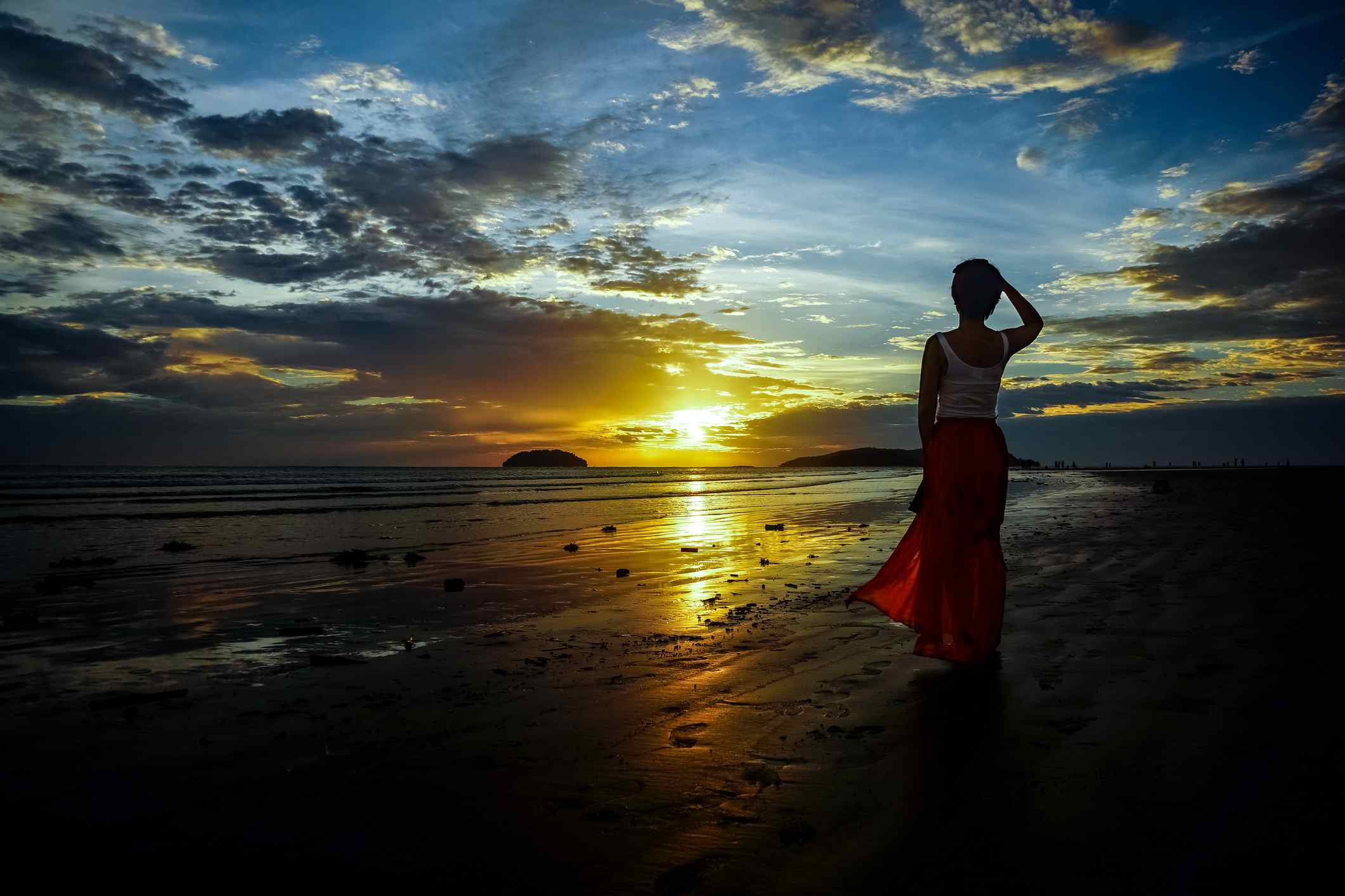 Tanjung Aru at sunset
