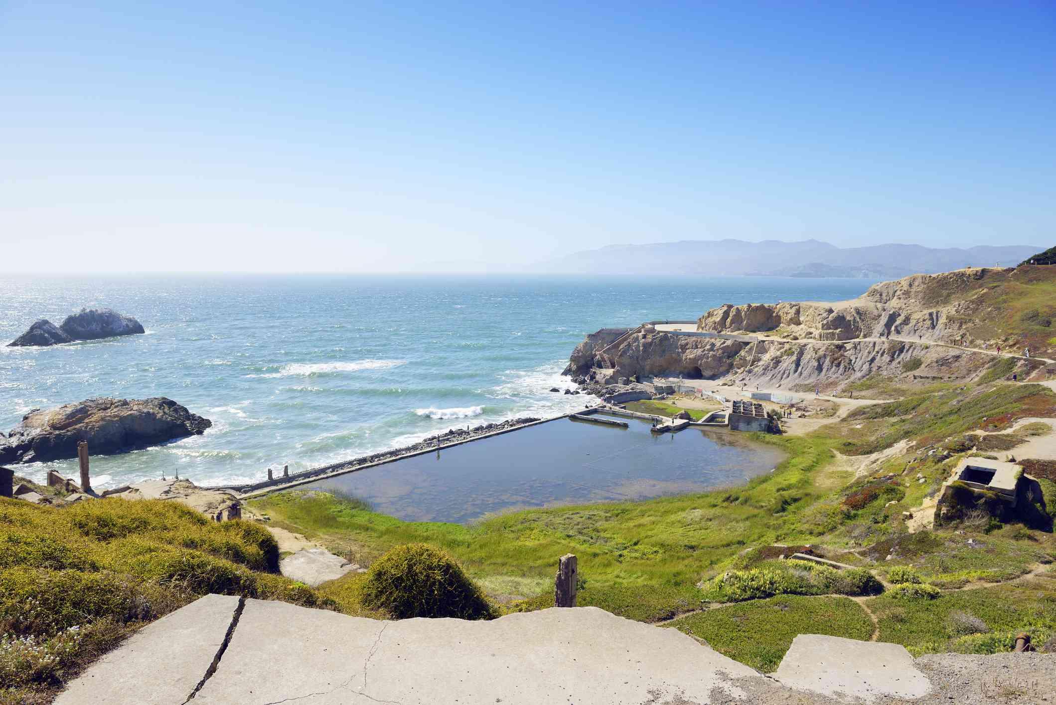 Ruins of Sutro Baths in San Francisco