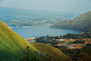 View of Lake Toba at Samosir Island in Sumatra