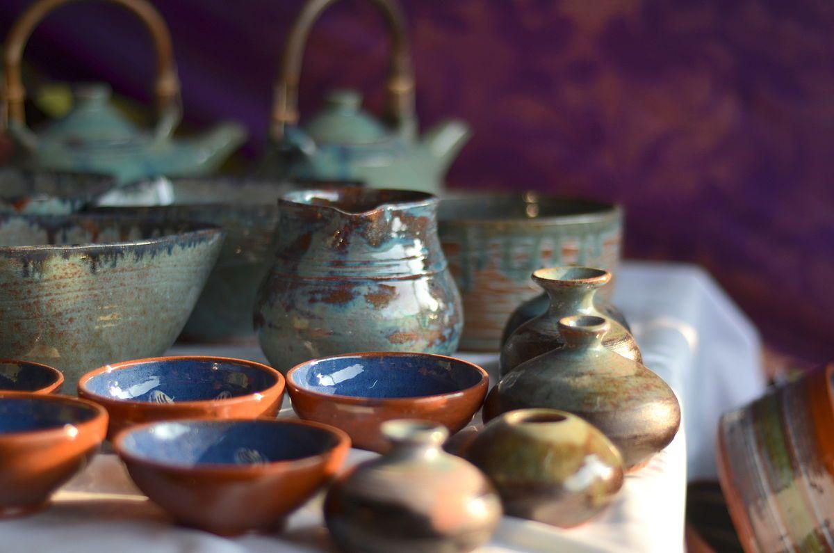 Andretta pottery at Dastkar Bazaar.