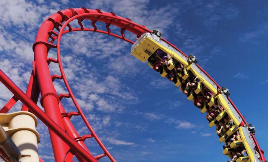 Big Apple roller coaster in Las Vegas.